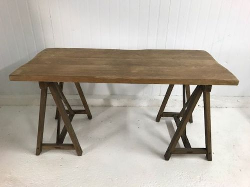 SOLD - Great Looking Trestle Table  - Ideal Console Table - Side Table - g157